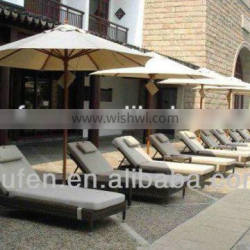 hot sale pe rattan outdoor swimming pool furniture
