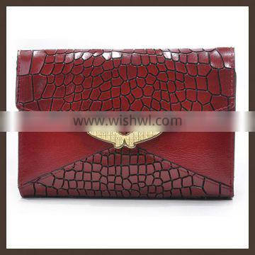 Wholesale woman leather wallet 2014 new product in China