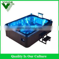 2016 Factory Newest JY8002 7-8 person outdoor spa/ hot tub/ massage pool