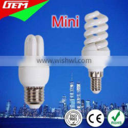 5W 7W 9W 2700K Mini Energy Saver Lamp For Decoration