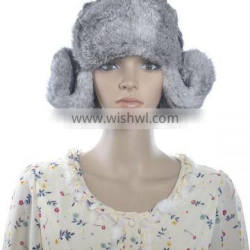 YR383 Russian Style real rabbit fur hat winter