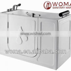 Q377 whirlpool acrylic walk in tub shower combo for old man