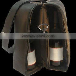 Two bottle Wine Carrying Case Leather Wine Box