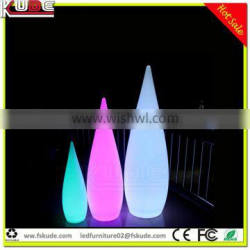 water drop shape floor lamp with LED light multi colors changing