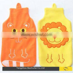 British standard animal fleece hot water bottle cover