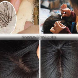 Large stock high quality cheap 100% human pair of lace front closure hair