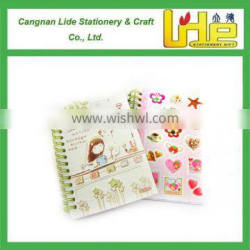 Customized personal logo printed spiral notebook with colored paper