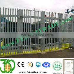 Palisade fencing with finishing Galvanised and Polyester Powder Coated to any RAL