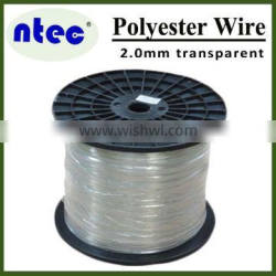 2.0mm transparent color polyester monofilament yarn for greenhouse super strength
