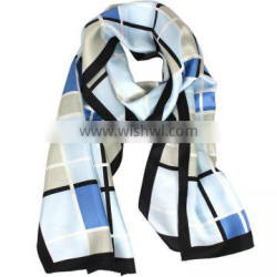Men &Women High Quality Silk Temperament Check Scarf /Shawl