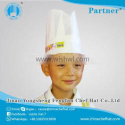 Good performance wholesale China Manufacturer kids chef hat paper forage cap 2017 widly using