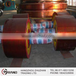 Casting carbon steel support roller for the cement factory
