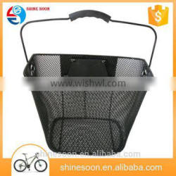 Eco-friendly bicycle quick release removeable front basket 2016