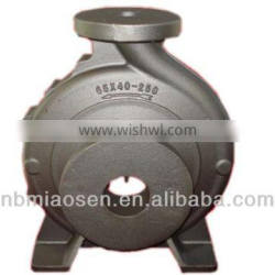 sand casting iron pump shell with abrasive blasting surface treatment