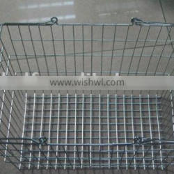 Dachang Manufactuer Metal Supermarket Baskets Powder Coated or Chrome