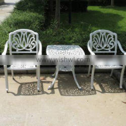 Modern leisure outdoor furniture wholesale cast aluminum patio garden set