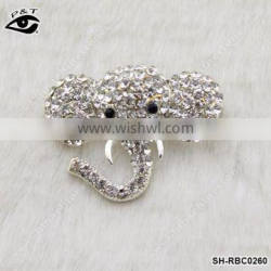 Elephant Shaped Rhinestone brooch Crystal pins wholesale brooches for wedding invitation cards
