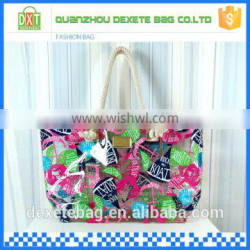 2015 newest promotional women pvc beach rope handle tote bag
