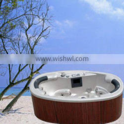 elliptical outdoor spa