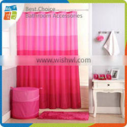 Polyester Pink Shower Curtain