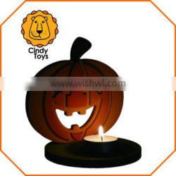DIY Wooden Craft Tealight holder Pumpkin 1 pcs for Kids in autumn