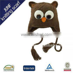 Fashionable new design pretty unisex warm soft winter crochet animal hat
