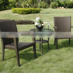 Brown rattan dining table and chairs(DW-AC033+DW-GT09)