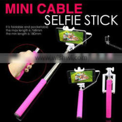 Selfie monopod with cable, selfie holder for travel tourism