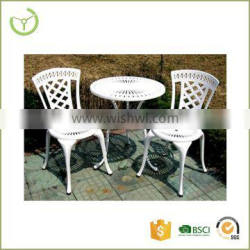 Outdoor patio furniture with multiple color available 3 pcs antique cast aluminum bistro set