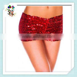 Burlesque Fancy Dress Sexy Girls Red Hot Short Sequin Pants HPC-3008
