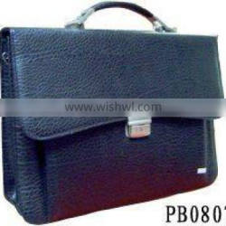 High Quality Men Black Leather Briefcase