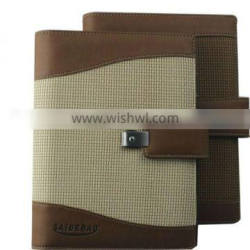 A5 pu leather notebook with buckle