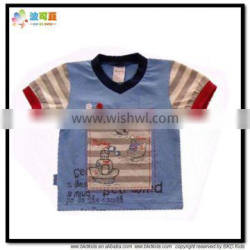 BKD Summer cotton V-neck kids t-shirt