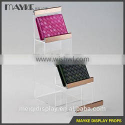 Four layers Acrylic Wallet display stand for wallet exhiition