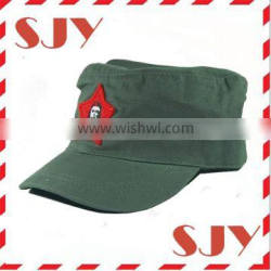 fashion cadet flat top green army hat,kids military cap
