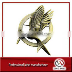 High Quality Custom Made Giveaway Vintage Style And Brooch Type Unfading Souvenir Bird Bronze Decorarion Badge