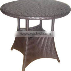 standard PE rattan table for outdoor