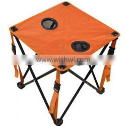 Portable 1 folding table and 2 chairs set for outdoor