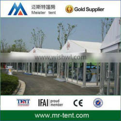 clear span event tent with glass door and window wedding party exhibition tent