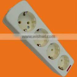 European style 4 way extension socket outlet with earth (E5004E)