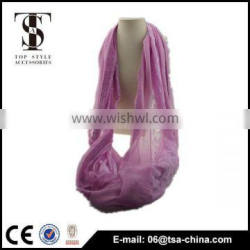 New Women viscose Lace loop infinity Wrap Scarf