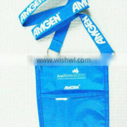 OEM neck lanyard with id card holder conference pouch