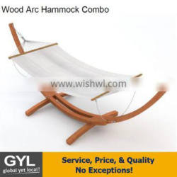 Patio furniture hot sale Hammock wood stand,Hammock with stand,wooden arc hammock