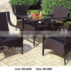 Rattan patio table and chairs (DH-3018)