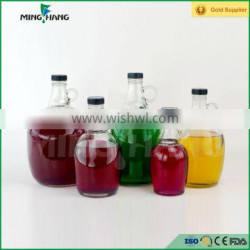 1L 1.5L 2L 3L wine glass bottle with handle and plastic cap Quality Choice