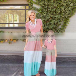 mother and daughter matching dresses striped dress