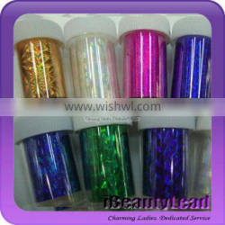 Latest nail transfer foil with 50 different colors nail shell strip nail art