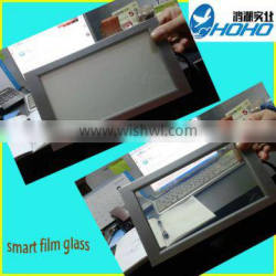 Switchable PDLC smart film with glass for commercial buildings