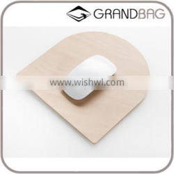 High Quality Black and Cream Color Vegetable Tanning Leather Mouse Pad