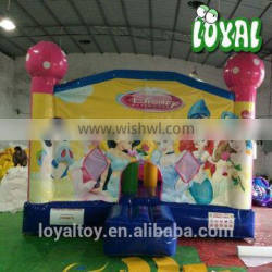 2016 Hot bouncy house for sale,0.5mm PVC cork bouncy castles, commercial inflatable party hire